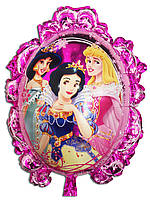 Фольгированный воздушный шарик - зеркало принцессы 70 х 59 см.