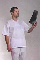 Классический белый мужской медицинский костюм