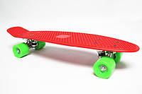 Скейт Пенни борд (Penny board) красный пениборд