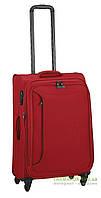 Дорожный чемодан из полиэстера на 4-х колесах (средний) March Delta 2782 красного цвета