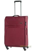 Дорожный чемодан из полиэстера на 4-х колесах (средний) March Focus 2582 бордового цвета