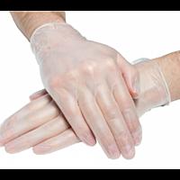 Перчатки виниловые, неопудренные Medicare, прозрачные (50пар/упак)