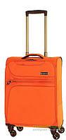 Дорожный чемодан из полиэстера на 4-х колесах (малый) March Focus 2583 оранжевого цвета