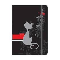 Книга записная А5 Catsline клетка 80 листов в твердой обложке Axent