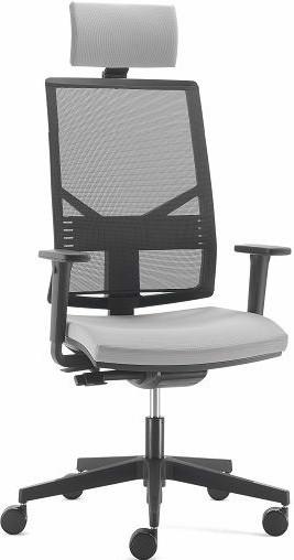 Компьютерное кресло с подголовником спинка сетка PLAY black - ЕНРАН-ДНЕПР в Днепре