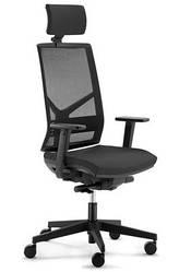 Кресло с подголовником спинка сетка Enrandnepr PLAY black черный
