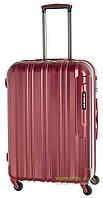 Дорожный чемодан из поликарбоната на 4-х колесах (средний) March Cosmopolitan 5002 красного цвета