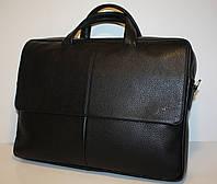 Мужской портфель Tergan натуральная кожа черный