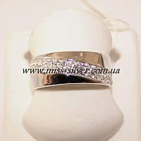 Кольцо дорожка с цирконами Сильвия, фото 1
