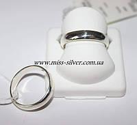 Кольцо серебряное обручальное Классика
