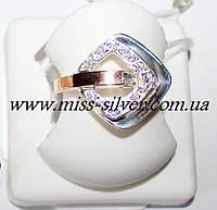Кольцо ромб из серебра Вера