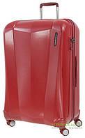 Дорожный чемодан из поликарбоната на 4-х колесах (большой) March Vision 3321 красного цвета