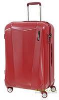 Дорожный чемодан из поликарбоната на 4-х колесах (средний) March Vision 3322 красного цвета