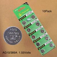Батарейка таб. TIANQIU AG10 1.55V за 10шт.