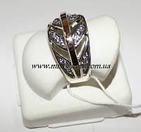 Кольцо с накладками золота Листва, фото 1