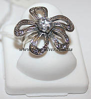 Кольцо серебряное Цветочек, фото 1