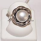 Кольцо белый жемчуг Веночек, фото 2