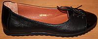 Балетки женские кожаные со шнуровкой, кожаные балетки женские от производителя модель ВБ1402-1