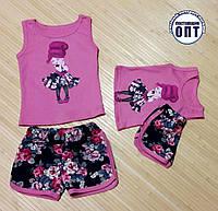 Летний костюм для девочки на 1-8 лет