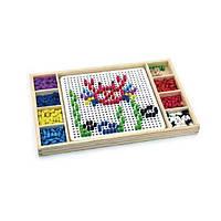 """Детская мозаика Viga Toys 2-в-1 """"Мозаика & Лудо"""", детская настольная игра"""