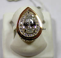 Кольцо с накладками золота Кристи