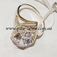 Серебряное кольцо с камнем формы Капелька, фото 1