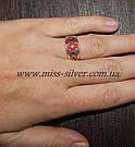 Кольцо Вышиванка с эмалью, фото 4