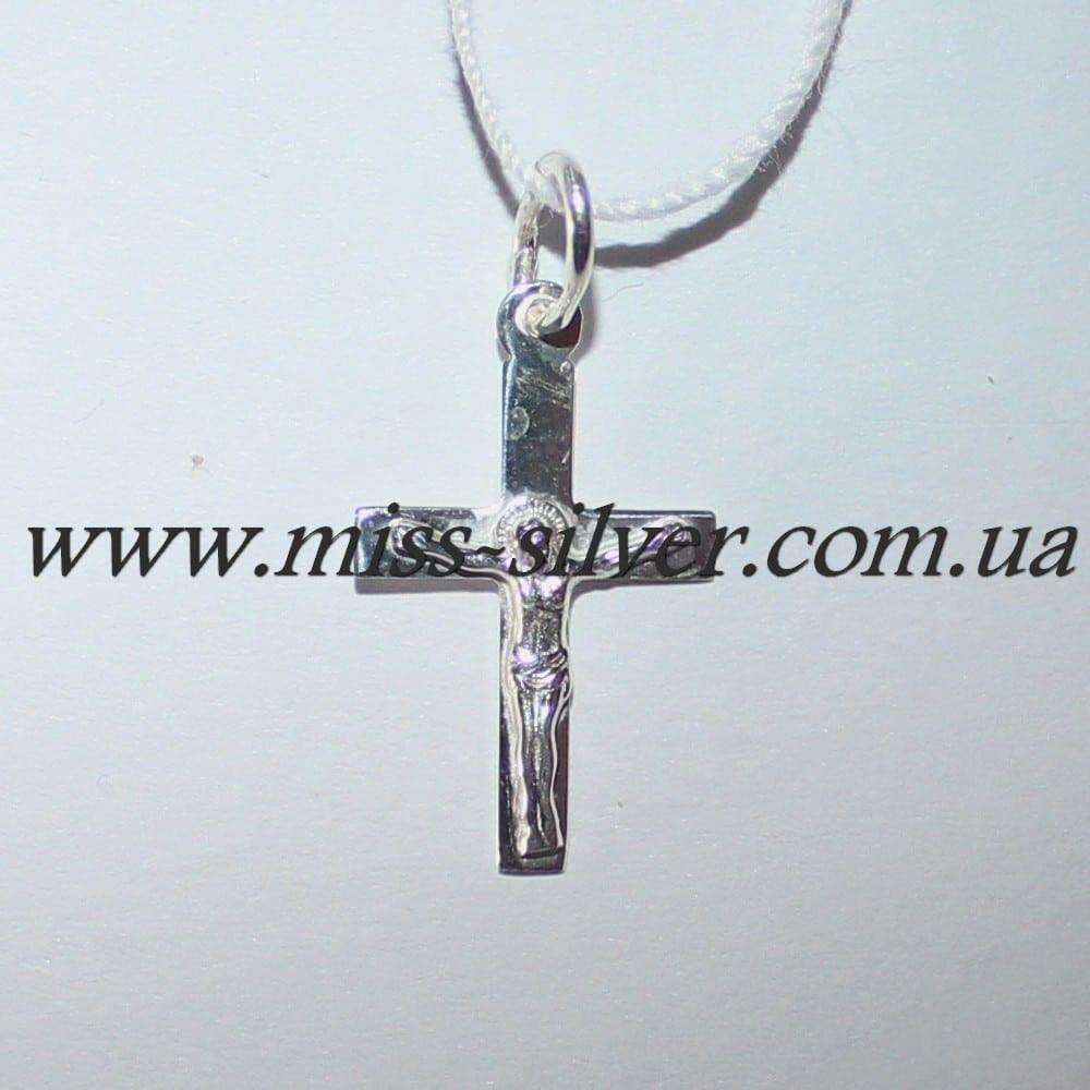 Серебряный крестик для крещения