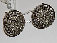 Серьги серебряные Версаче