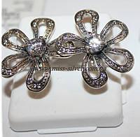 Серьги серебряные Цветочек, фото 1