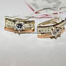 Серьги с накладками золота Фаина, фото 3