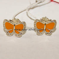 Гвоздики Бабочки с эмалью, фото 1