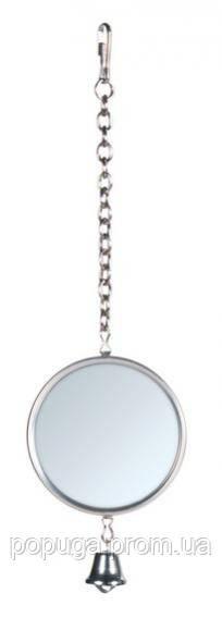 Зеркало на цепочке с колокольчиком