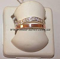 Кольцо с накладками золота Виолетта, фото 1