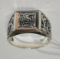 Перстень с накладками золота Георгий Победоносец