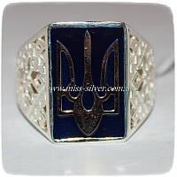 Перстень серебряный с золотом Воля