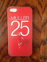 Ультртонкий силиконовый тпу чехол iPhone 5/5s/SE с рисунком Мюллер