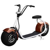 Электромотоцикл электробайк BT-SC01-17W, коричневые крылья
