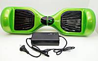 Электросамокат детский 6,5 дюймов, гироскутер SmartWay зеленый