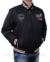 Стильная мужская куртка-ветровка весна-осень,черная