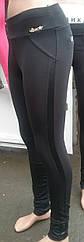 Лосины женские байка, эластик + кожзам, 4XL, №7046