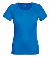Женская спортивная футболка синяя 392-51