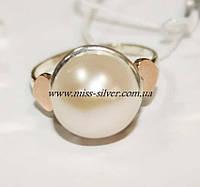 Серебряное кольцо с жемчугом Яна