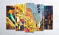 """Модульная картина на полотне """"Каир. Египет. Рынок"""""""