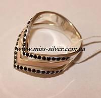 Женское кольцо (серебро с золотом) Фрезия