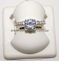 Кольцо из серебра с золотом и цирконами Кристина