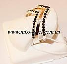 Кольцо серебро с черными цирконами Фрезия, фото 2
