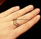 Кольцо серебро с черными цирконами Фрезия, фото 3