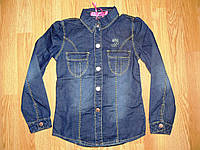 Рубашка джинсовая на девочек оптом, Grace, 116-146 рр., фото 1