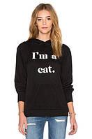 Худи женская с принтом 'IM A CAT' | Толстовка
